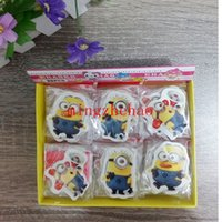 Wholesale Box Children The stationery school supplies prize rubber Despicable Me Minions Movie erasers