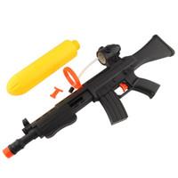 Cheap Summer Air Pressure Gun Water Squirt Toy Yellow & Black Beach Party Game Kids freeshiping