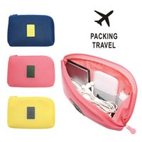 Wholesale Travel anti cosmetic bag digital electronic products finishing bag with data line mobile power storage bag