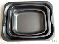 Wholesale 38 CM versatile three piece fitted square baking dish large baking mold oven use