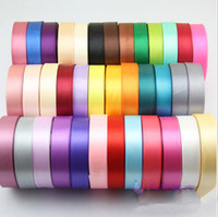 christmas ribbon - Rolls Brand New Gift Ribbon Christmas New Year Wedding Colorful Grosgrain Ribbon Satin Gift Packaging Ribbon Spool