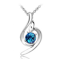 high quality fashion jewelry - Fashion Jewelry Chain High Quality Austrian Crystal Silver Plated Necklaces Pendants For Women Party