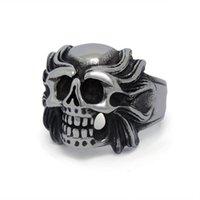 Wholesale FC Kito dark titanium steel self defense squads Alondra tiger skull rings for men rings jewelry personalized jewelry SA519 DREAM
