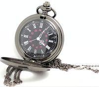 antique dressing table - black classic Roman Pocket watch vine pocket watch Men Women antique models Tuo table watch PW028