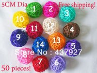 rattan - Set piecees Cm Dia Rattan Ball for Home wedding party hotel decorative Christmas ornament mix color colors