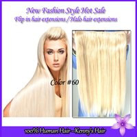Cheap New style charming Brazilian human virgin flip in hair extensions blond color #27 60 613 straight halo hair extensions