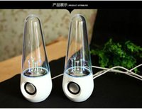 pc speaker - 2015 Hot Dancing Water mini computer Speaker Active Portable Mini USB LED Light Speakers For iphone ipad PC MP3 MP4 PSP DHL Freeshipping