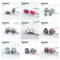 Metals 925 beads - Hot pandora silver Beads Metals charms big hole Loose Beads Fit European DIY Charm Bracelets Mixed DHL