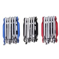 Wholesale New in1 Mountain Cycling Bicycle Tool Set Bike Multi Repair Tool Kit Wrench Screwdriver Chain Cutter Black Red Blue
