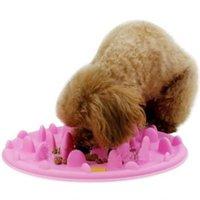 Wholesale Pet Food Bowl Interactive Feeder Digestion Puzzle Bowl Slow Food Bowl Anti Choke Interactive Slow Feeding Feeder NQ678480
