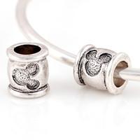 murano pendant - Alloy Mouset Beads Spring DIY cat beads Spacer Murano Chunky Bead Charm Pendant Fit For Pandora Bracelet Charms BD0415