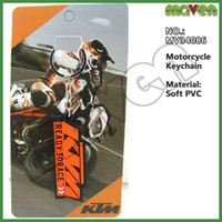 Wholesale New Arrival Motorcycle keychains PVC Rubber Keyring Keychain Key rings chains For KTM keychain