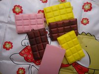 Wholesale cm pure chocolate bar squishy