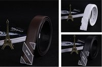 adjustable ratchet - 100 Good quality New Men Automatic Buckle Genuine Leather Waist Strap Belts Formal Ratchet Adjustable DH