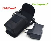 Wholesale 8 V Charger High Powerful V Waterproof mAh x18650 Battery pack For V LED Bicycle Light With Pouch