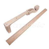 Wholesale sets Cello Project Part Cello Neck With Fingerboard Peg Holes Scrolled Head