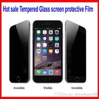 Wholesale For Galaxy S6 Note Iphone Privacy Tempered Glass Screen Protector For Galaxy S6 Anti Spy Peeping With Retail Package