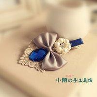 Versión coreana de los accesorios de cristal del pelo del clip del lado de la horquilla del diamante que envía libremente la cabeza de flor coreana al por mayor adorna Persi hecho a mano