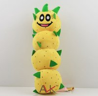 Wholesale Stuffed Animal Caterpillars - Super Mario plush toys Super Mario 3D world Green caterpillar Plush Doll Stuffed Animals & Plush Toys