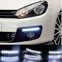 audi head lamps - Universal Car Light Car Fog Lights Super White LED Daytime Running Light V DC Head Lamp Car Styling