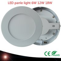 Wholesale Surface Mounted LED Panel Light SMD2835 w w w Round LED Ceiling down lamp AC V Driver Warm white Coolwhite