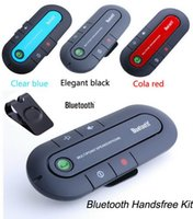 Wholesale Universal Bluetooth HandFree Multipoint Car Kit Speakerphone Speaker for phone with retail package dhl