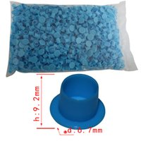 Wholesale small mm tattoo ink cups New designed wide cup base blue ink cups small