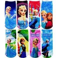 winter socks - 2014 New Frozen pairs baby child socks Winter autumn cartoon style Elsa Anna kids socks Newborn Unisex socks HI024