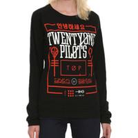 Wholesale Women Tshirts Long Seeve Twenty One Pilots T Shirt Slim Fit O Neck Woman T Shirt Pilots Twenty Print Tee Shirt S XXL