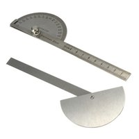 best craftsman - Best Price Stainless Steel Protractor Angle Finder Arm Measuring Round Head Craftsman Ruler Machinist Goniometer General Tool
