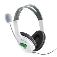 Wholesale New Headset Headphone with Mic Microphone Earphone for XBOX Gaming Headset White