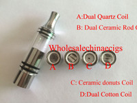 Wholesale Vhit wax Glass Globe atomizer ceramic donut no coil no wick wax quartz Coil e solid tank waxy concentrated oil vaporizer tank