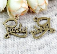 word charms - A1405 MM Antique Bronze Vintage Party word charm pendant beads DIY ZAKKA jewelry jewelry accessories tibetan bracelet charm metal