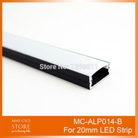 Wholesale 0 M Black Recessed Aluminum LED Profile without Flange Using for Strip within mm