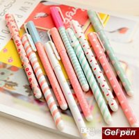 Wholesale 10 set Color Gel pen Kawaii Stationery korean flower Canetas escolar papelaria zakka Office material school supplies A5