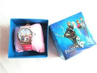 Wholesale Christmas Gift Ice Princess FROZEN Children Electronic Watches Boxes Of Children Birthday Gift Watches And Clocks To Report