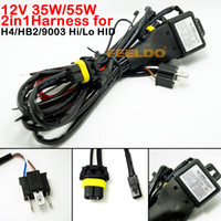 Wholesale 30pcs car auto V W W IN1 H4 HB2 Hi Lo Bi xenon Relay Harness For HID