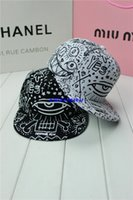 Cheap New Fashion Men Women Graffiti Hip-Hop Rock Snapback Hat Flat Baseball Cap Adjustable Cap Eye printing