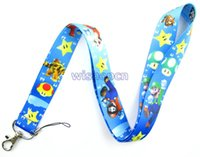 Wholesale Super Mario Bros Lanyards Neck Strap Keys Camera ID Card Lanyard GS0303