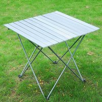 Wholesale Aluminum Roll Up Table Folding Camping Outdoor Indoor Picnic w Bag Heavy Duty