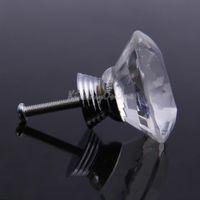 antique glass drawer pulls - 5X mm Diamond Shape Clear Crystal Glass Drawer Cabinet Pull Handle Knob K5BO