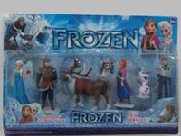 Wholesale Frozen Anna Elsa Hans Kristoff Sven Olaf PVC Action Figures Toys Classic Toys set