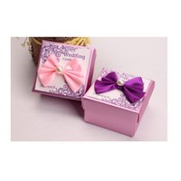 Wholesale 6 cm Hot PUrple Pink Wedding Favor Boxes Wedding Candy Box Bridal Shower Gift Box Wedding Supplies