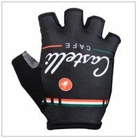 half finger gloves - 2015 castelli cafe cycling gloves black color summer outdoor racing gloves MTB and road bike half finger cycling gloves size S M L XL