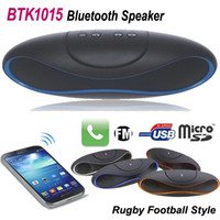 mini football - Mini BTK QFX Rugby Bluetooth Speaker Rugby Football Design Style Portable Wireless Handsfree HIFI Amplifier with USB TF FM Bass Stereo