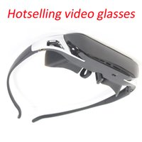 Wholesale 84 quot Virtual Wide Screen Video Glasses Eyewear Mobile Private Theater Digital with Card Slot Built in Flash Memory
