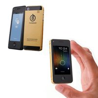2014 desbloqueado cámara central COTEX 1G Dual SIM Android 4.3 Multi-Touch IPS wifi pequeña celular móvil mini teléfono inteligente Phonebaby 5s P056