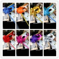 adult flower costumes - Lady Womens Flower Party Masks With Handle Masquerade Venetian Costume Francy Dress Masks Halloween Christmas Wedding Ball Performance Mask