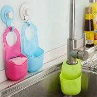 plastic basket - Sponge storage box rack basket wash cloth Toilet soap shelf Organizer kitchen gadgets Accessories Silicone Sink Shelving Bag