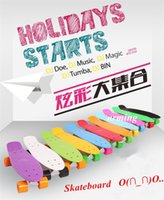 Wholesale Holidays playing Skateboard fashion design Water Printing inch Primary School longboard skate board cruiser Penny replica kits gift